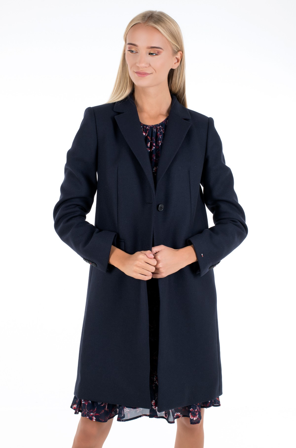 Coat TH ESS WOOL BLEND CLASSIC COAT-full-1