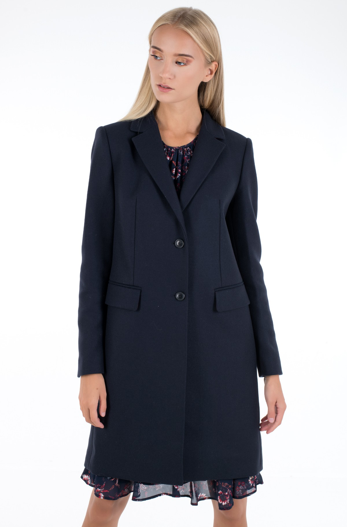 Coat TH ESS WOOL BLEND CLASSIC COAT-full-2