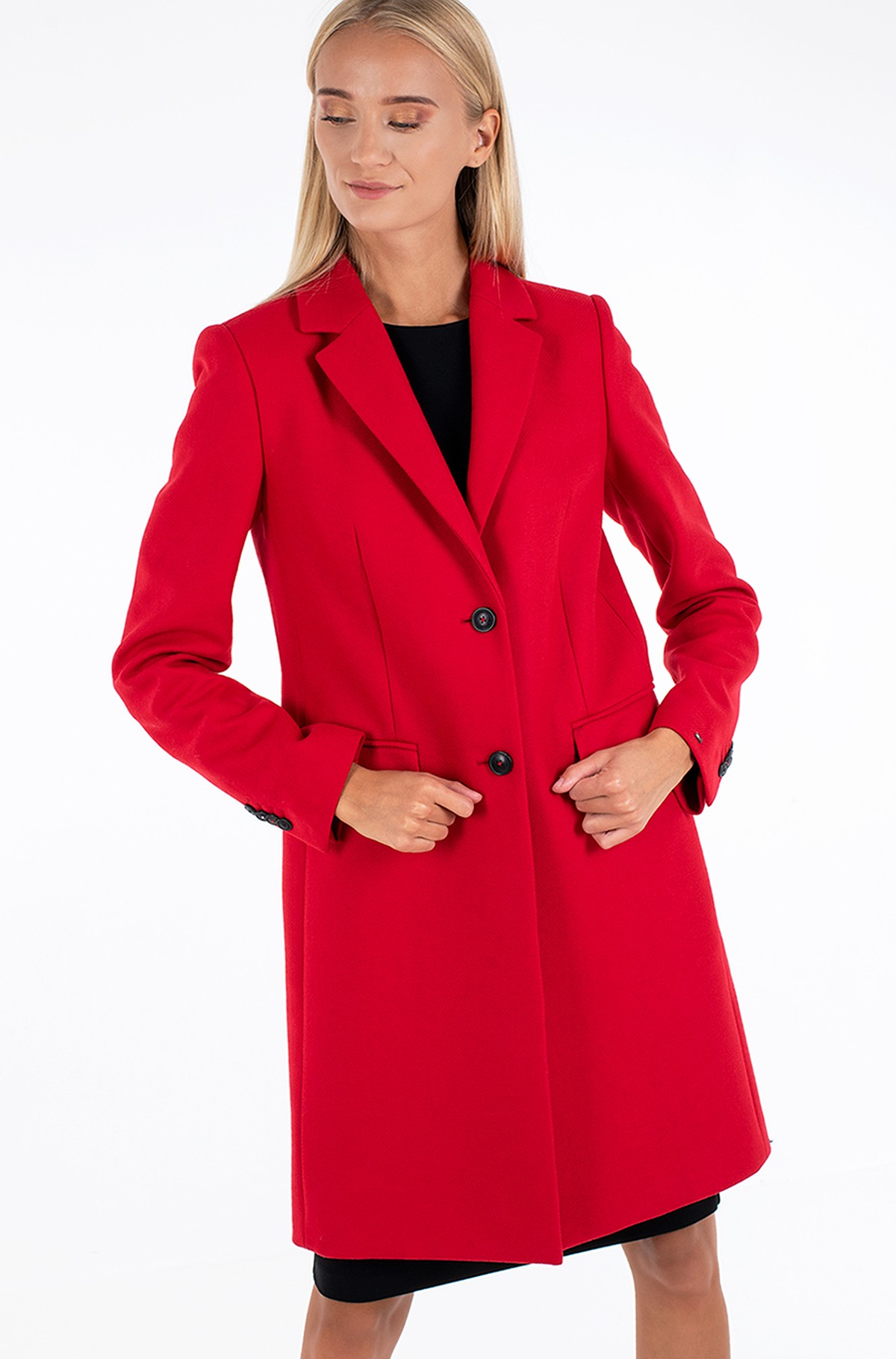 Mantel TH ESS WOOL BLEND CLASSIC COAT-full-3