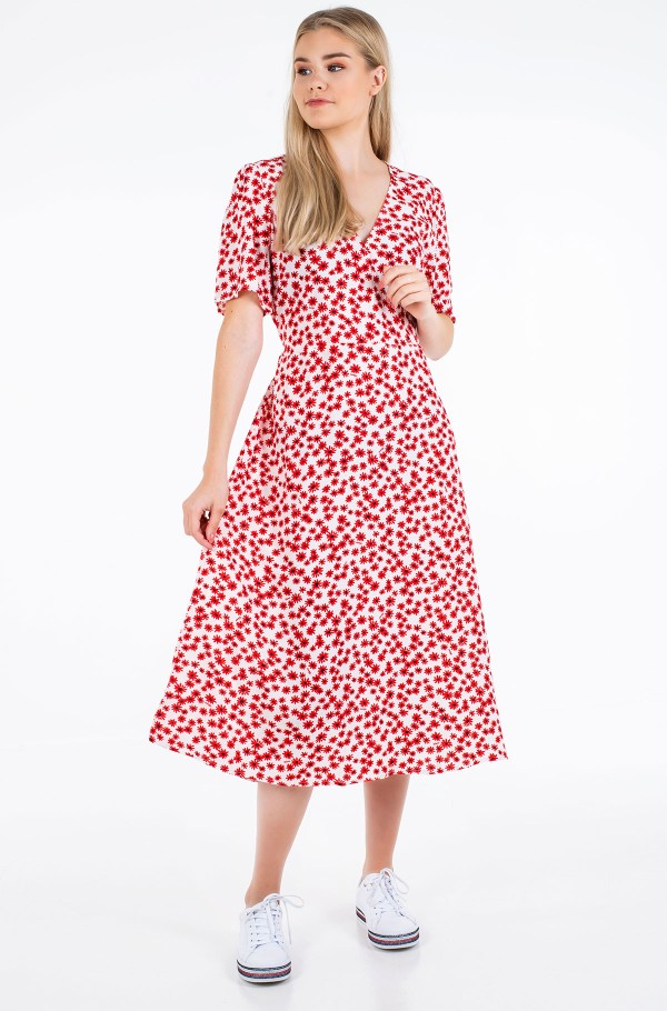 TJW PRINTED WRAP DRESS