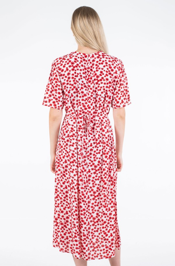 TJW PRINTED WRAP DRESS-hover