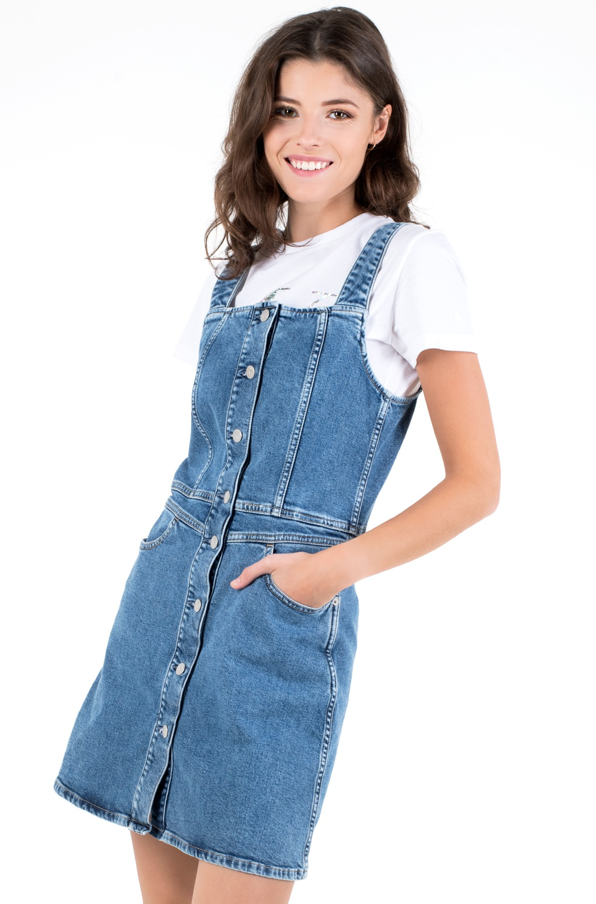 Denim dress BUTTON DOWN TANK DRESS-full-1