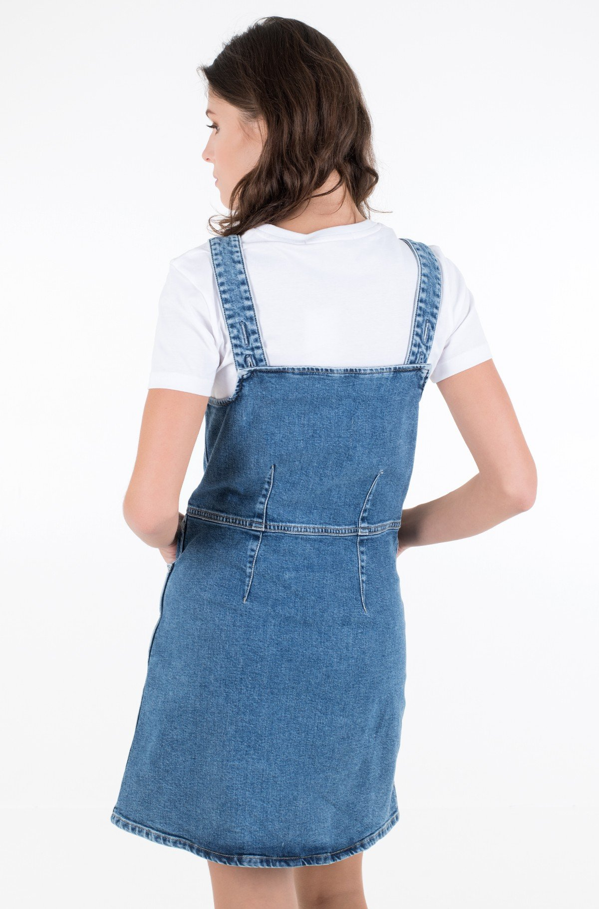 Denim dress BUTTON DOWN TANK DRESS-full-2