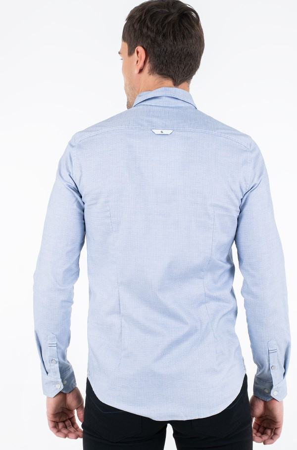 NON WASHED DOT DOBBY SHIRT-hover