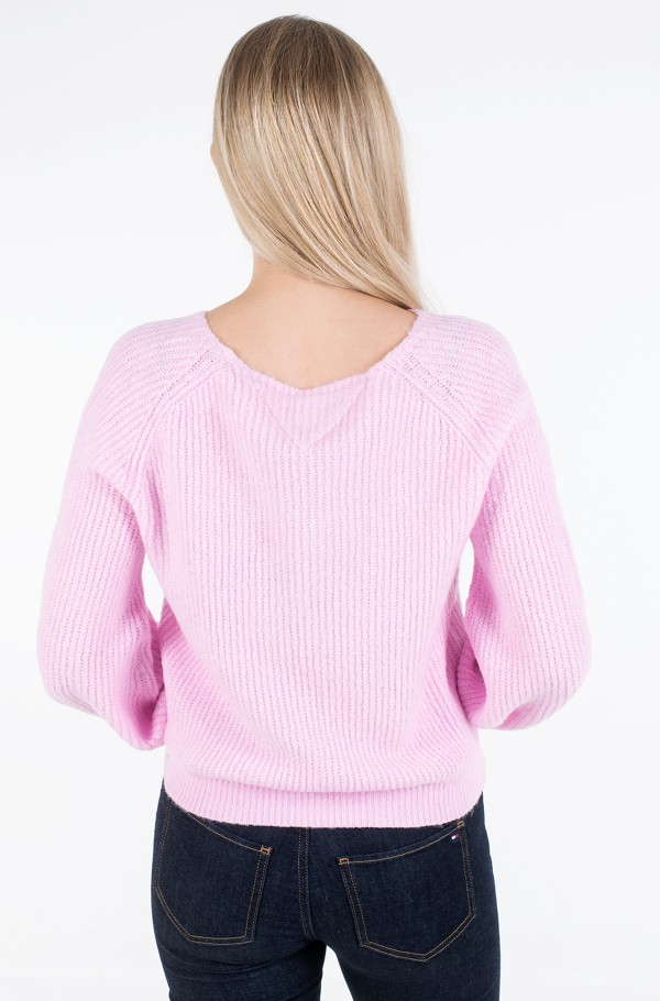 TJW SLEEVE DETAIL LOGO SWEATER-hover