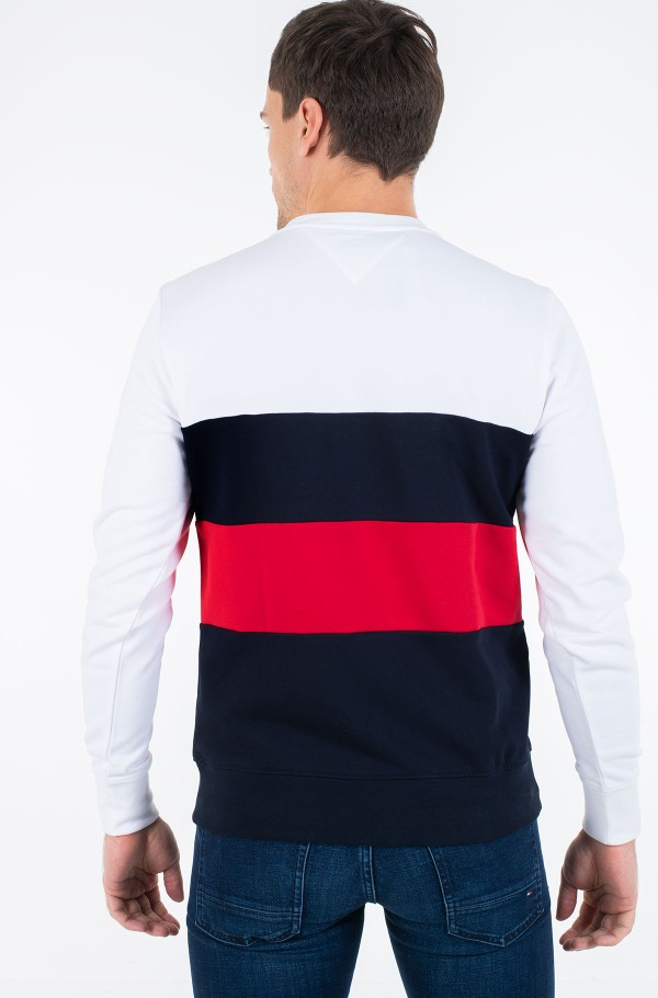 STRIPED COLOR BLOCK SWEATSHIRT-hover