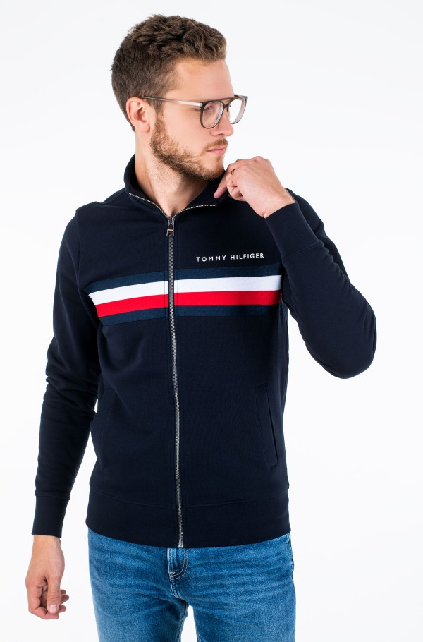 HILFIGER LOGO ZIP THROUGH