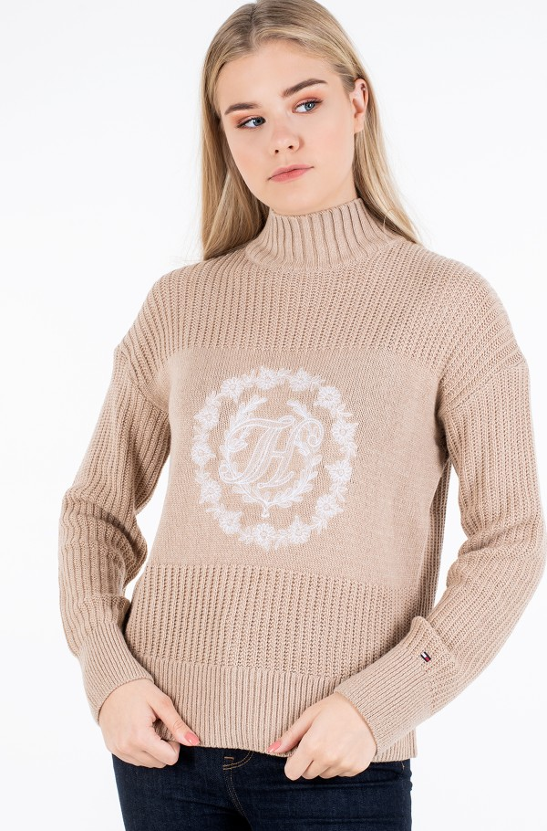 MATT&SHINE  MOCK-NK SWEATER LS