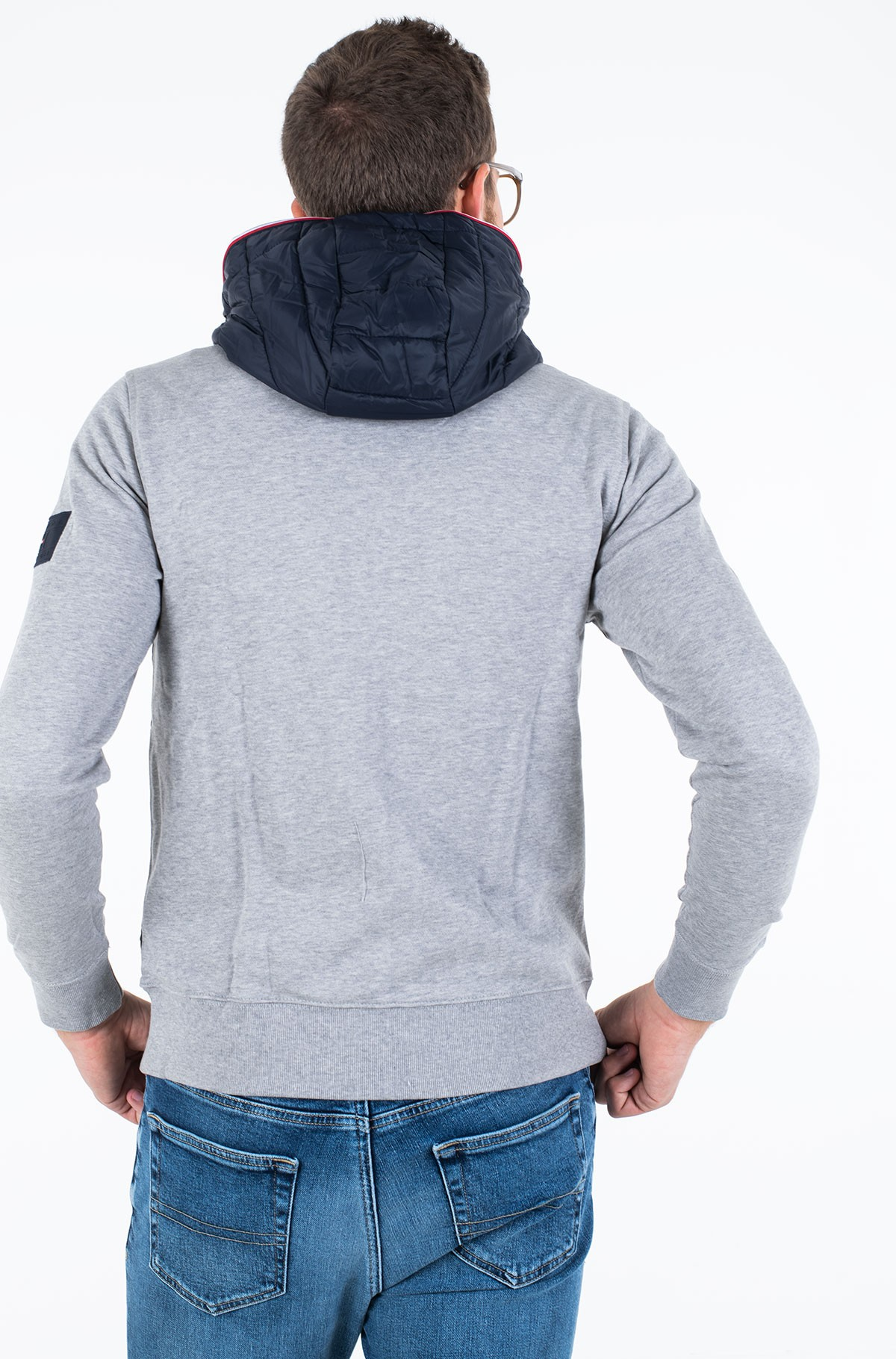 Striukė MIXED MEDIA HOODED ZIP THROUGH-full-3