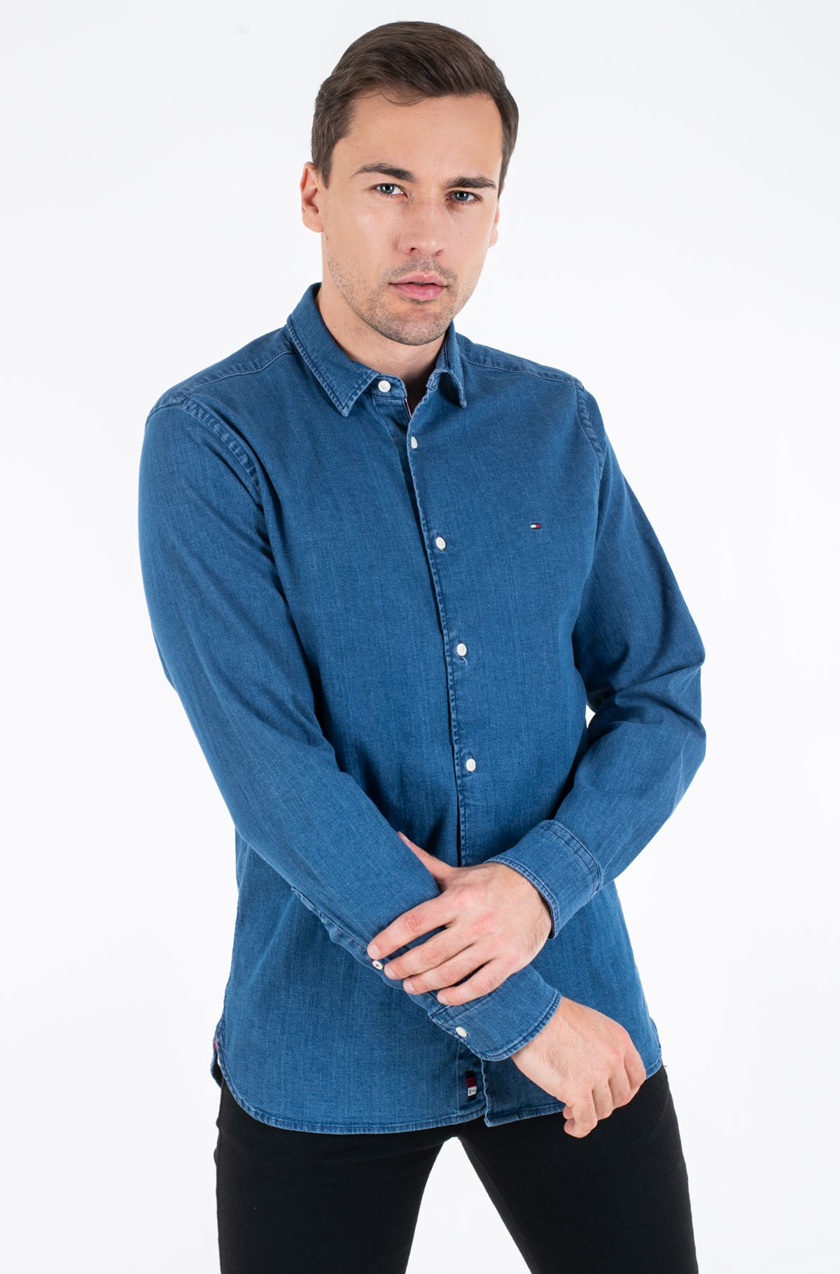 Teksasärk FLEX CHAMBRAY SHIRT	-full-1