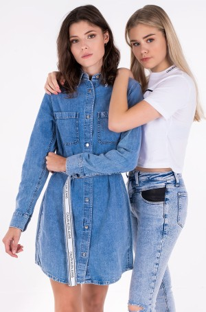 Denim dress RELAXED SHIRT DRESS BELT-1