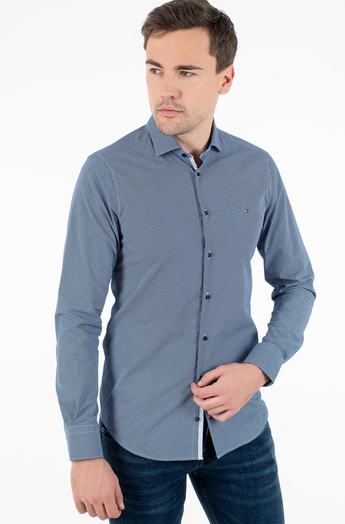 Shirt MICRO PRINT CLASSIC SLIM SHIRT-full-1