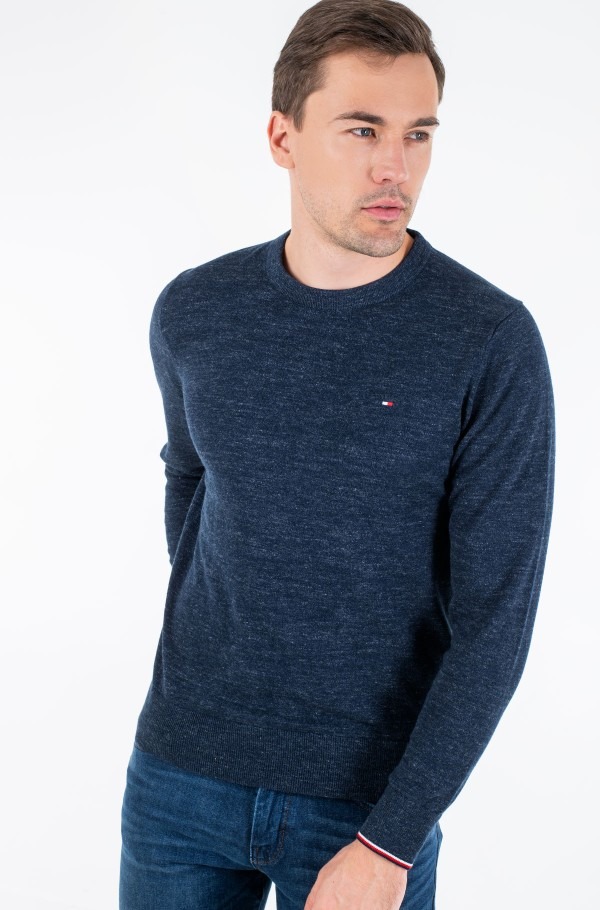 EXAGGERATED HEATHER CREW NECK