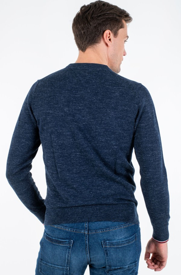 EXAGGERATED HEATHER CREW NECK-hover