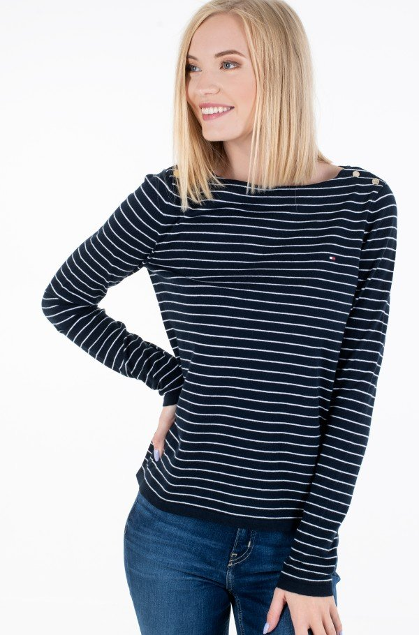 SOFT COTTON BOAT-NK SWEATER LS