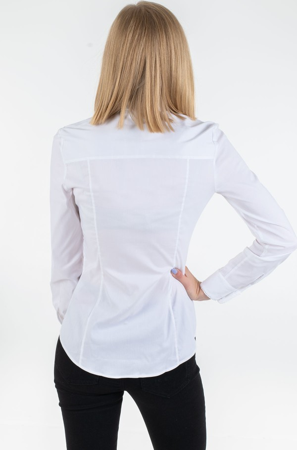 BRITTANY SLIM SOLID LS SHIRT-hover