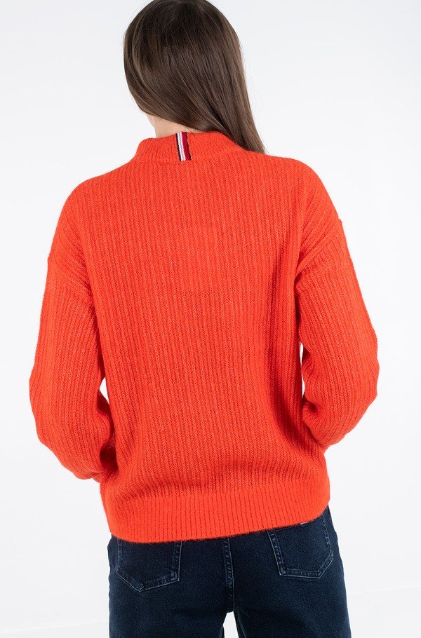 TEXTURED STITCH MOCK-NK SWEATER-hover