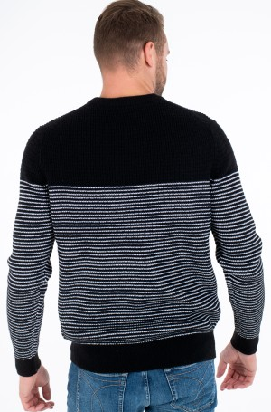 Kampsun TEXTURED STRIPED CN SWEATER-2