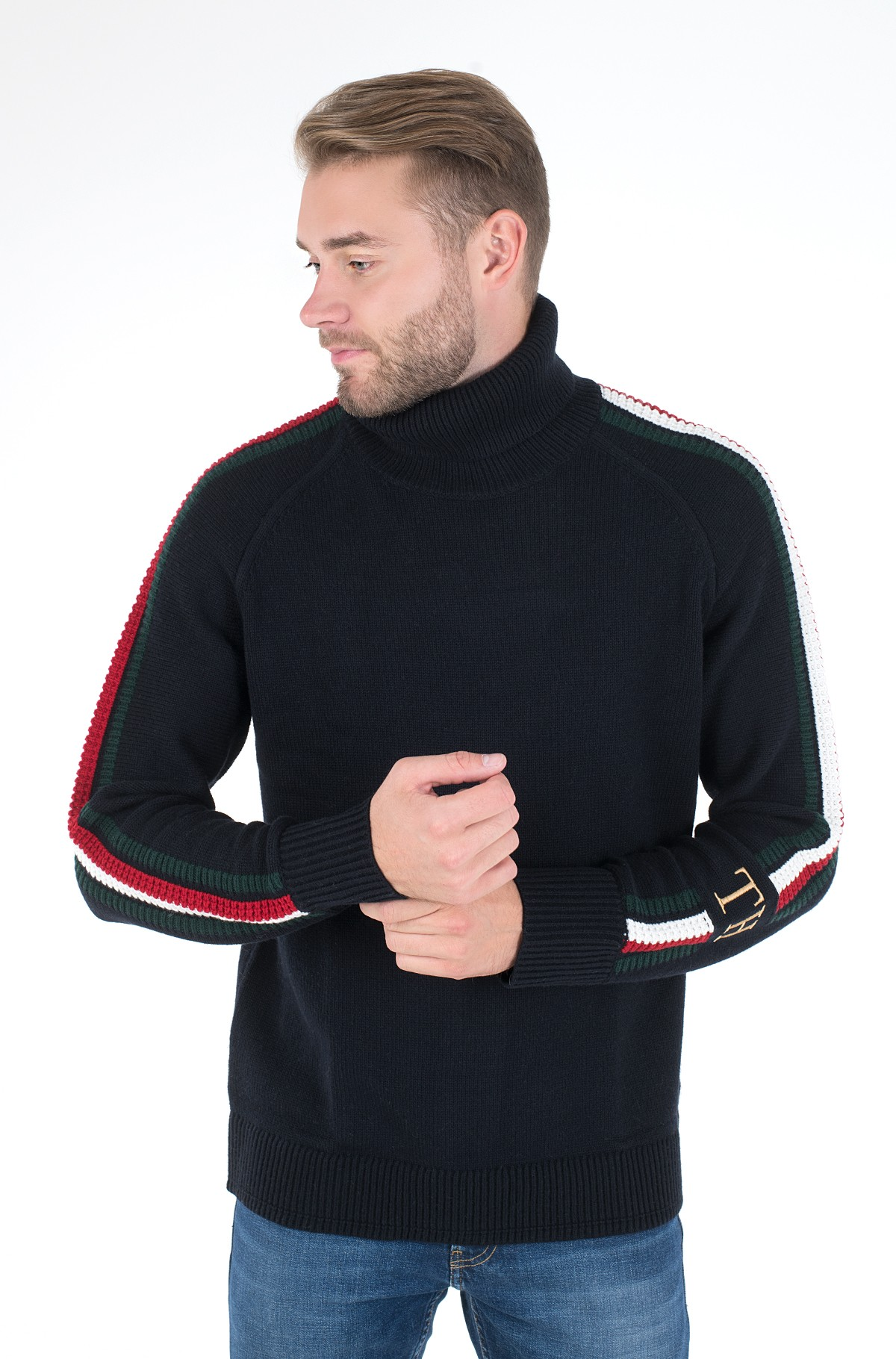 Megztinis ICON TIPPED ROLL NECK-full-2