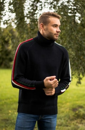 Megztinis ICON TIPPED ROLL NECK-1