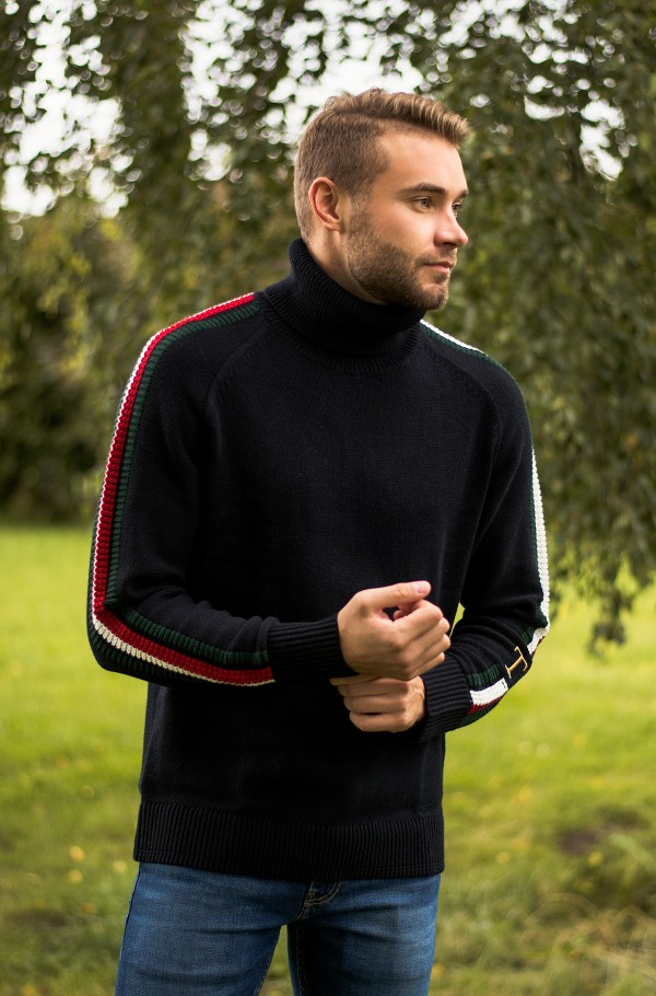 ICON TIPPED ROLL NECK