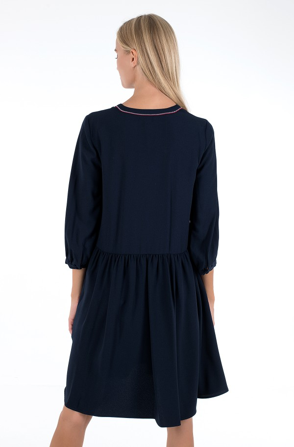 ARIELLA SHIFT DRESS 3/4 SLV-hover