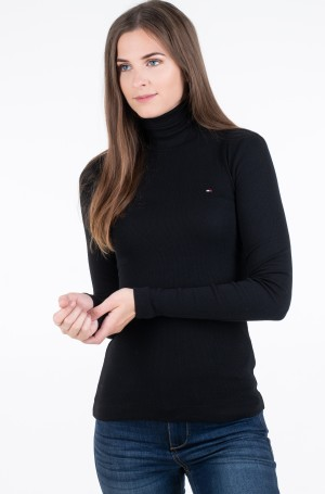 Pluus TH ESS SKINNY ROLL-NK RIB TOP LS-1
