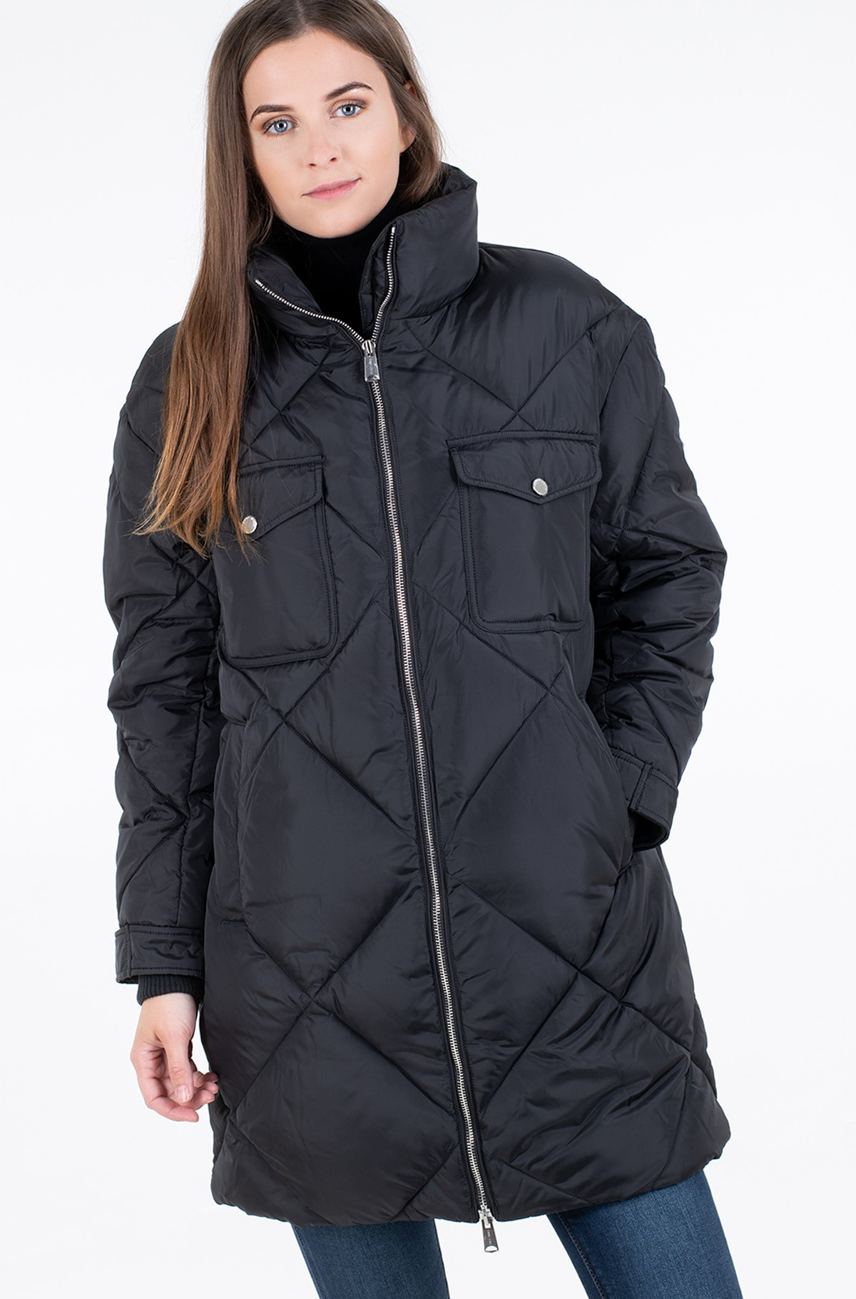 Jacket TJW DIAMOND QUILTED COAT-full-1