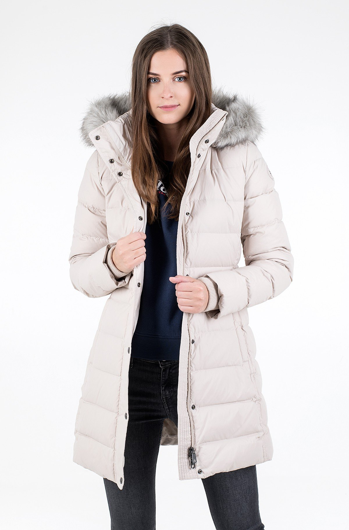 Coat TH ESS TYRA DOWN COAT WITH FUR-full-1