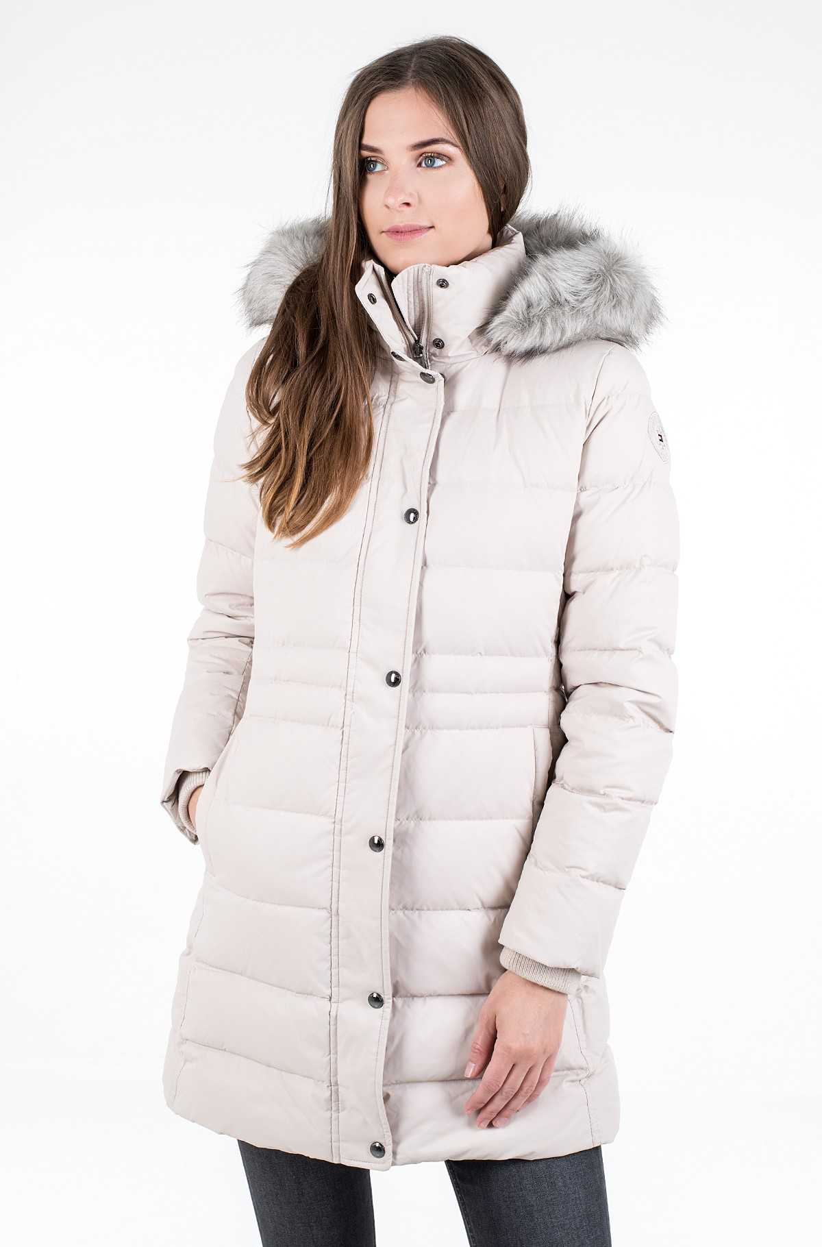 Coat TH ESS TYRA DOWN COAT WITH FUR-full-2