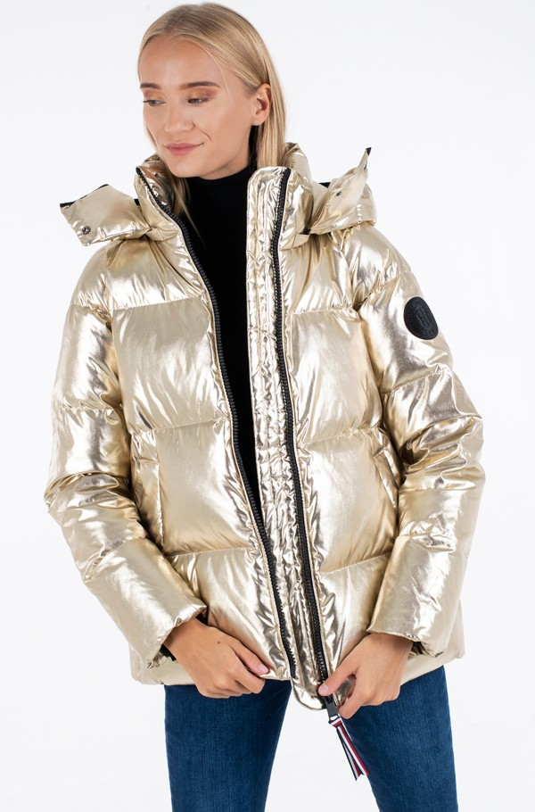 HIGH GLOSS DOWN PUFFER JKT GOLD