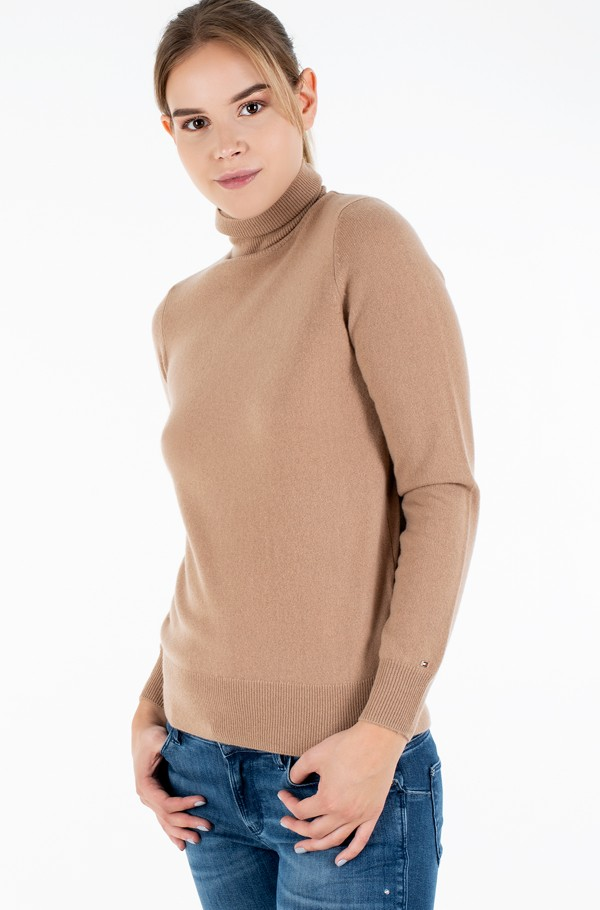 RECYCLED CASHMERE ROLLNK SWEATER