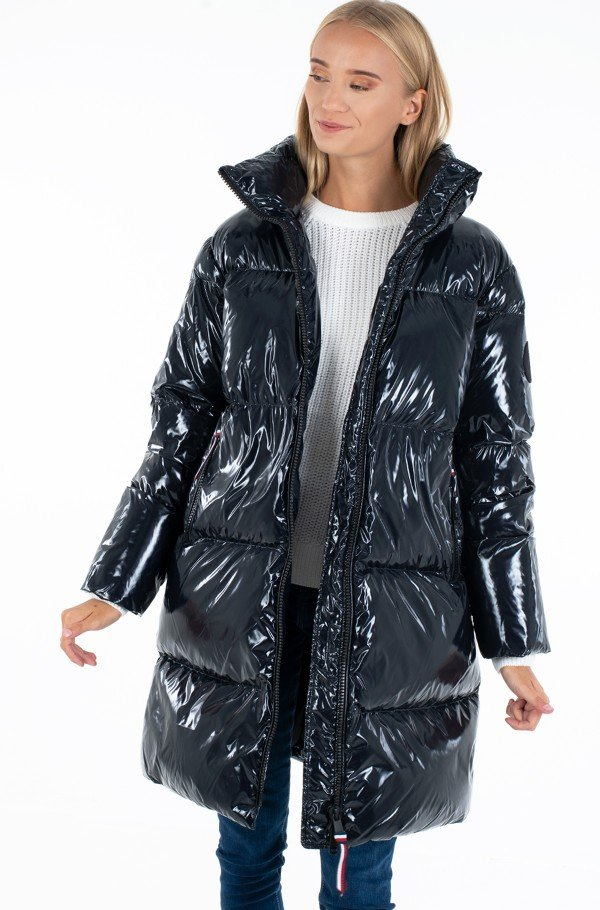 HIGH GLOSS DOWN PUFFER COAT