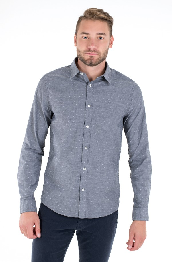 WASHED DOBBY SLIM SHIRT