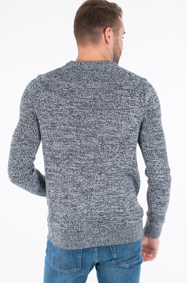 TWISTED YARN CK LOGO SWEATER-hover