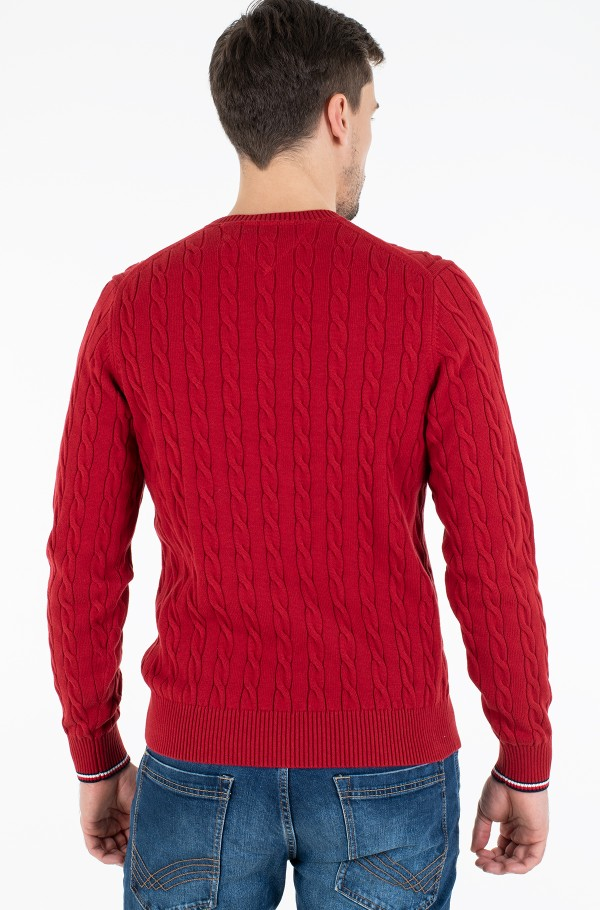 ORGANIC COTTON CABLE CREW NECK-hover