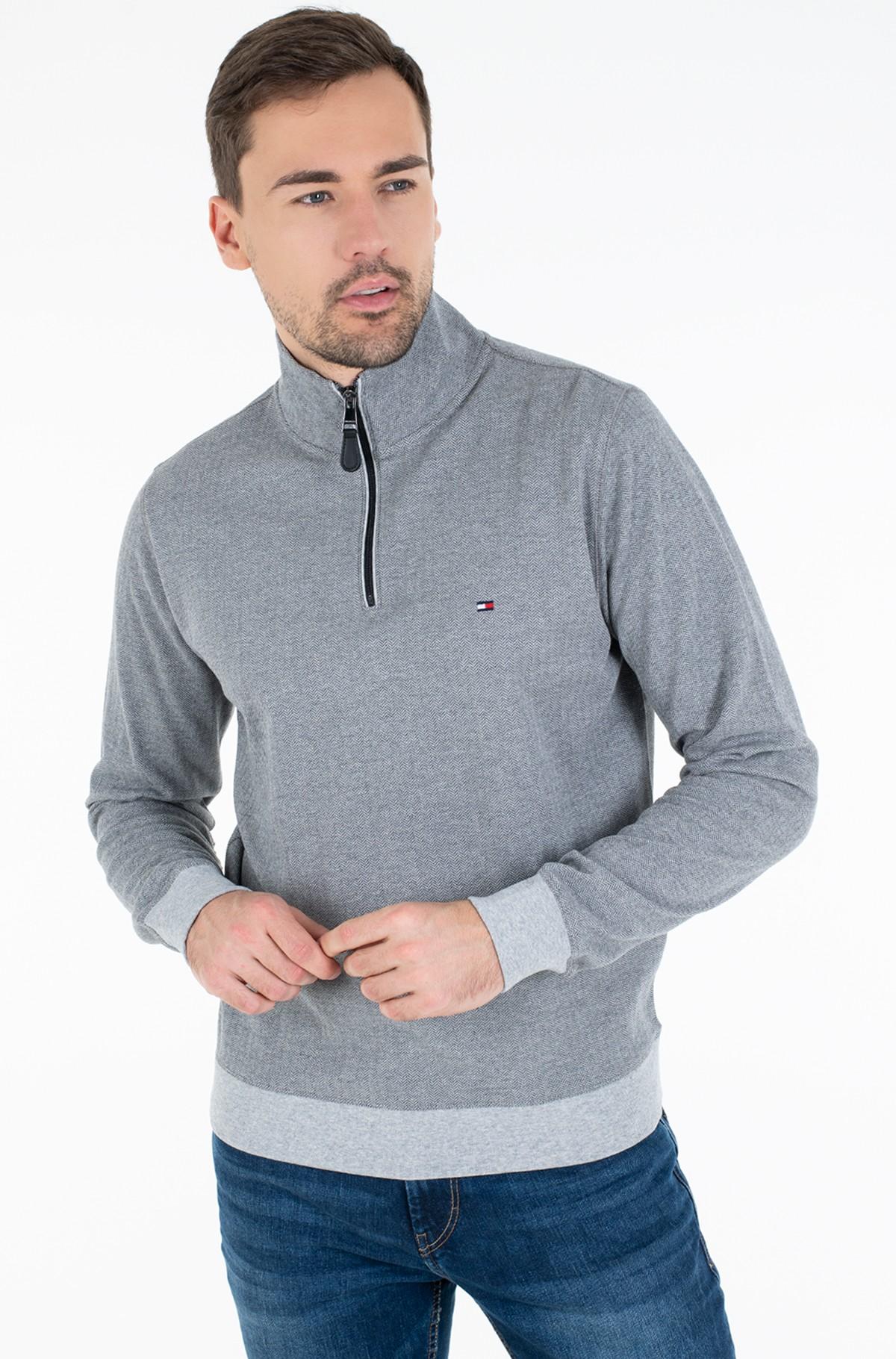Sweater HERRINGBONE MOCK NECK-full-1