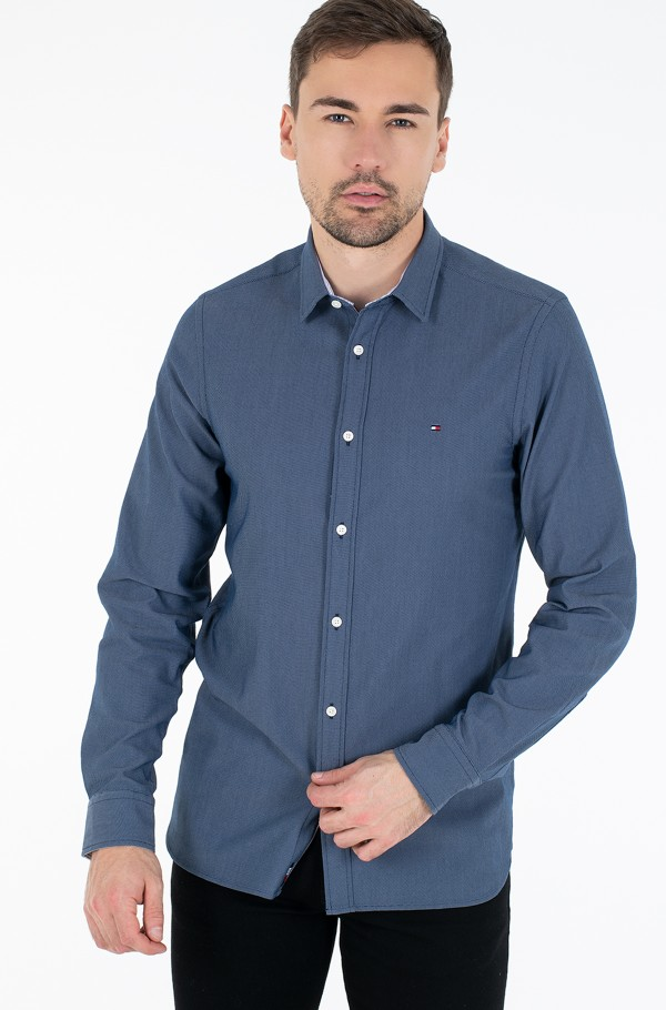 SLIM 4 WAY STRETCH DOBBY SHIRT