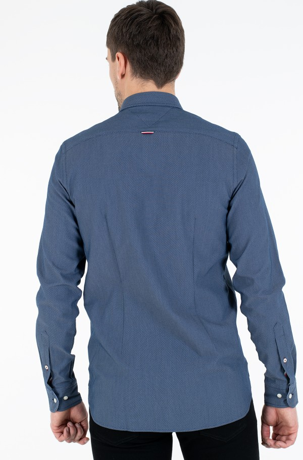 SLIM 4 WAY STRETCH DOBBY SHIRT-hover