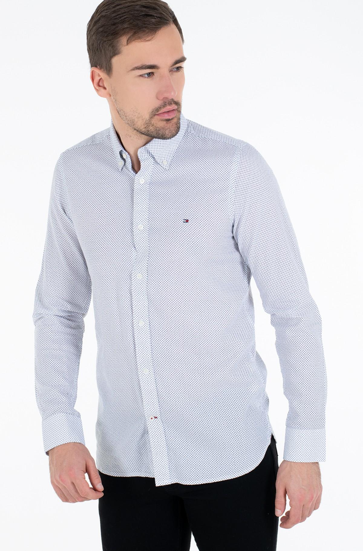 Marškiniai SLIM MICRO PRINT TWILL SHIRT-full-1
