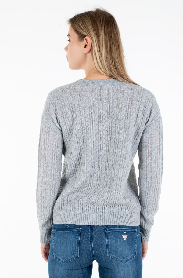 SOFTWOOL CABLE C-NK SWEATER LS-hover