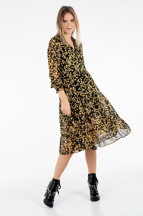 TJW PRINTED MIDI SHIRT DRESS-hover