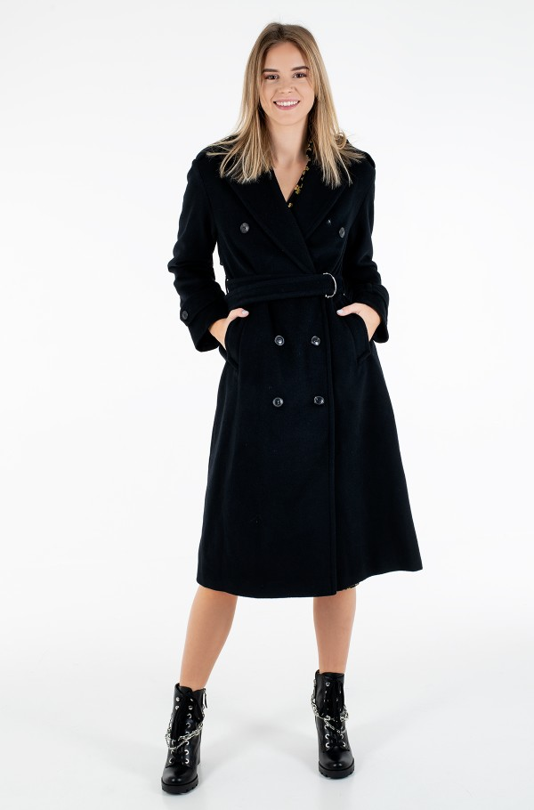 POST CONSUMER WOOL BLEND TRENCH