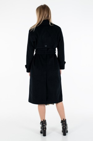 Paltas POST CONSUMER WOOL BLEND TRENCH-4