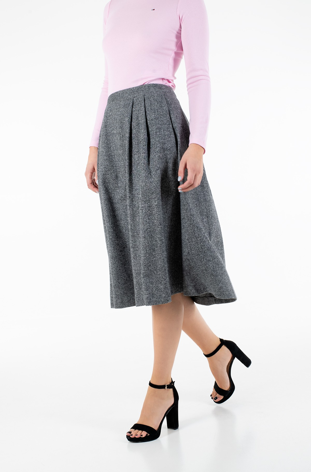Skirt CASHMERE WOOL BLEND MIDI SKIRT-full-1