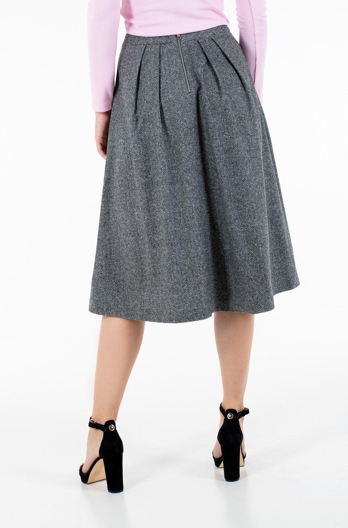 Skirt CASHMERE WOOL BLEND MIDI SKIRT-full-2