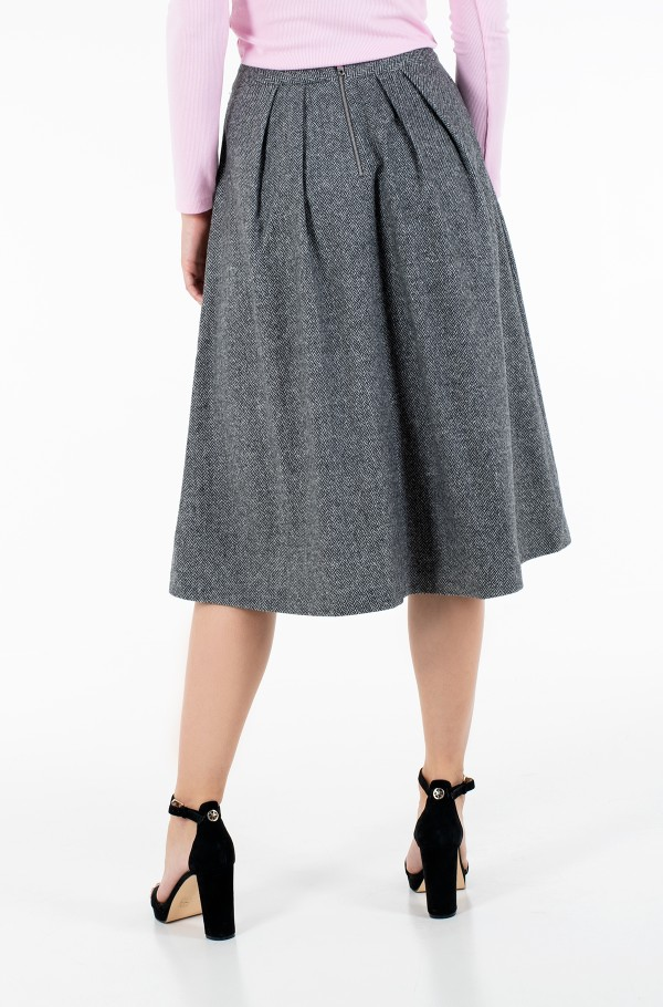 CASHMERE WOOL BLEND MIDI SKIRT-hover