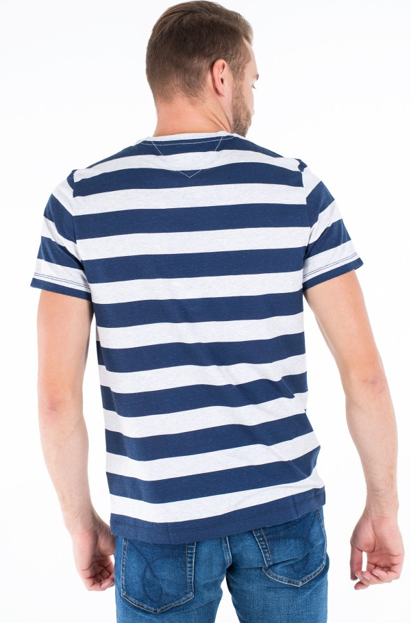 TJM HEATHER STRIPE TEE-hover