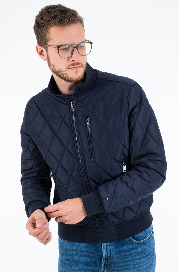 DIAMOND QUILTED BOMBER