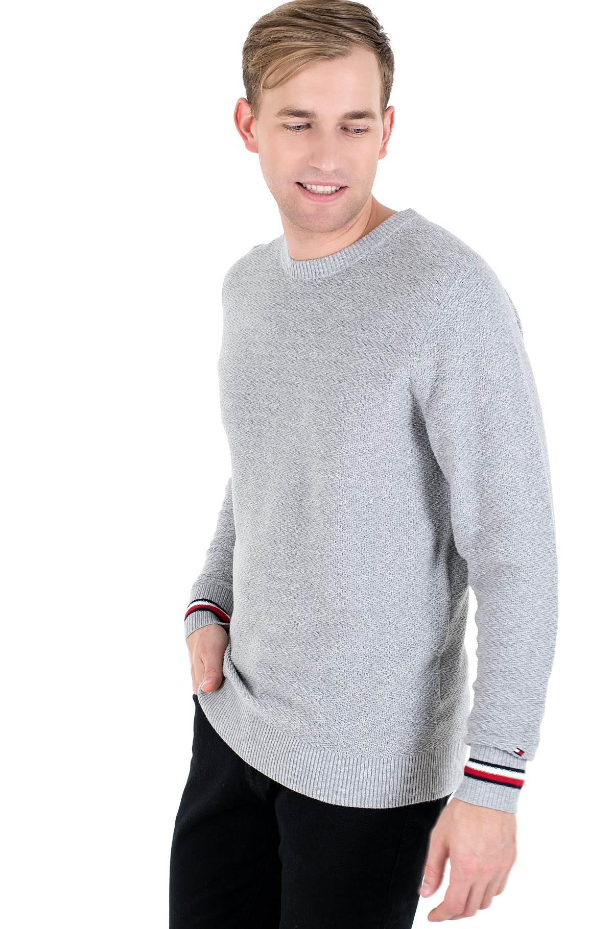 Sweater PATTERN STRUCTURE SWEATER-full-1